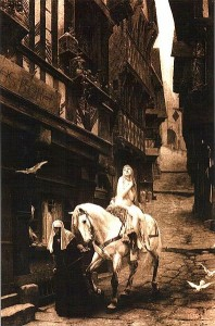 Lady Godiva - rhymes with Elgiva. J.J.Lefebvre, 1890