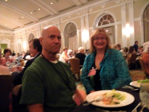 Barry Webb & Annmarie Banks at Fri. night dinner.