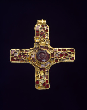 Gold & garnet pectoral cross.