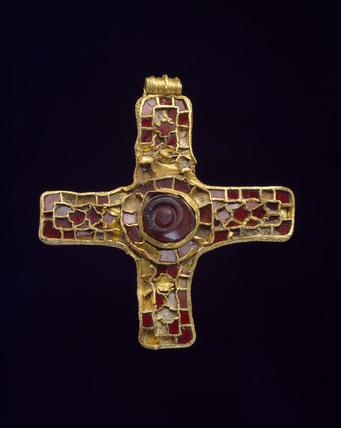 Gold & garnet pectoral cross.