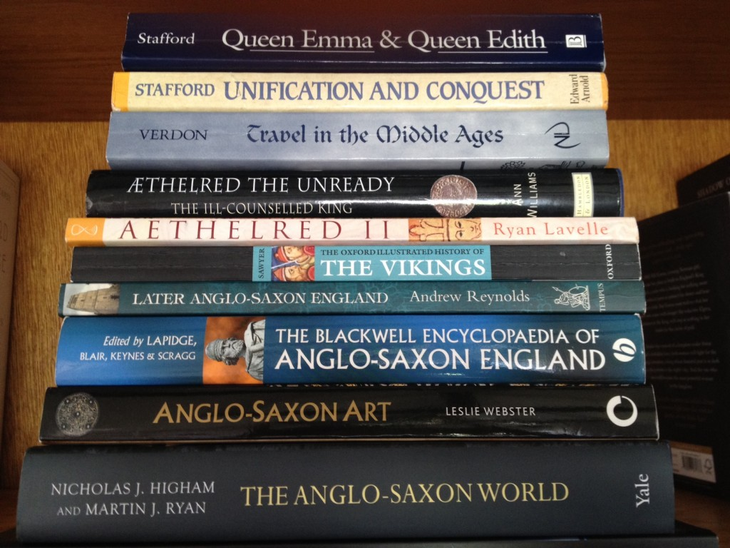 A selection of my research books.