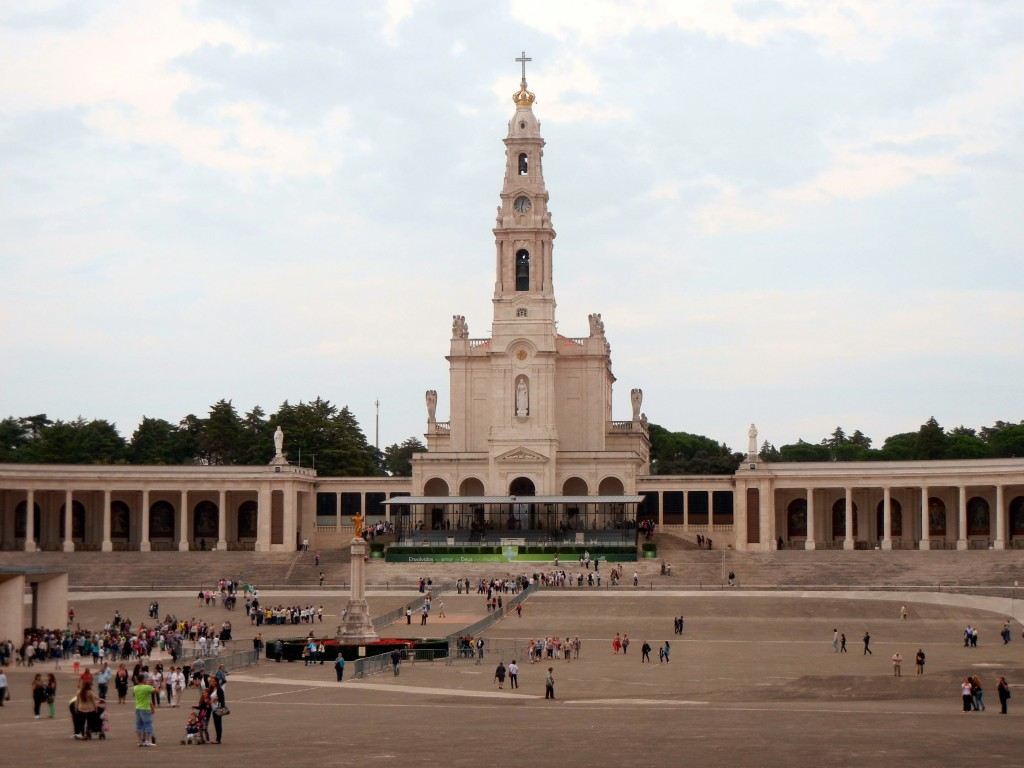 The old basilica at Fatima.