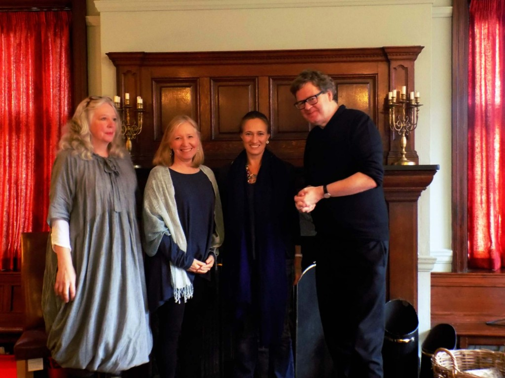 Authors Lucy Gough, Patricia Bracewell, Rebecca Abrams & James Runcie. Hearth Festival, Gladstone's Library, November 2014