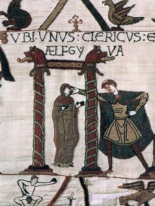 Aelfgyva (Emma?) on the Bayeux Tapestry.