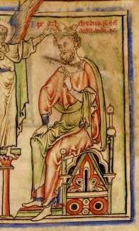 King Æthelred II, from The Life of King Edward the Confessor. 13th c. Cambridge University Library