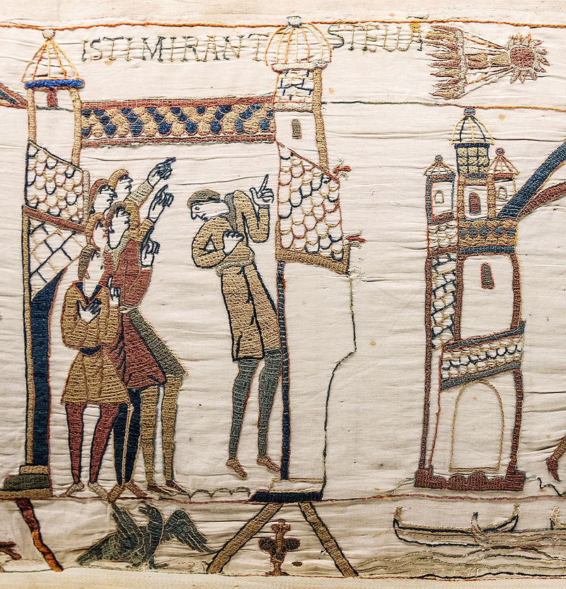 Halley's Comet makes its appearance on the Bayeux Tapestry.