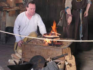 Making fire, West Stow
