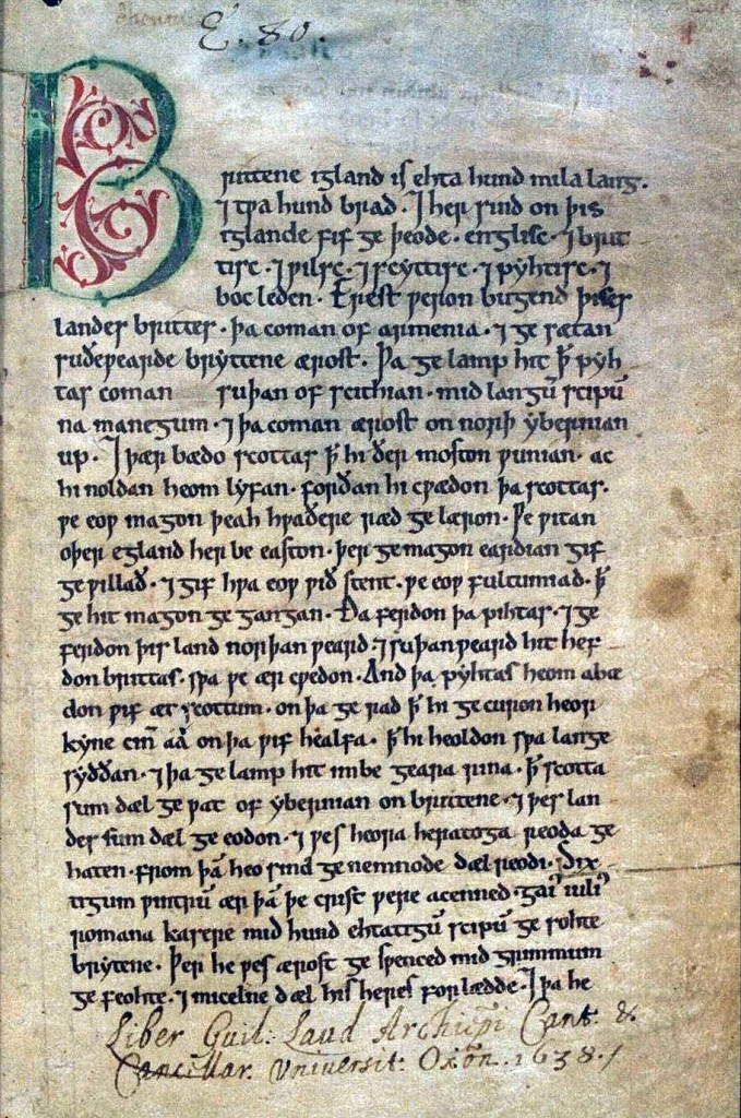 Anglo-Saxon Chronicle (Peterborough) Courtesy Wikimedia Commons