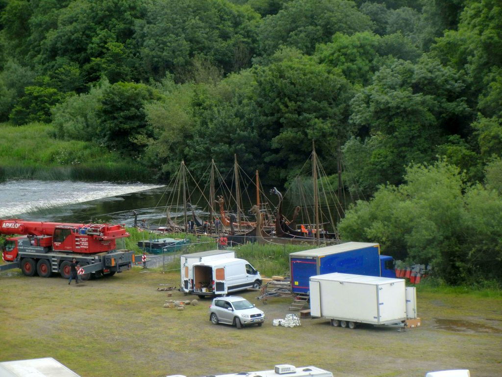 Viking ships on the River Boyne. Photo: Bracewell