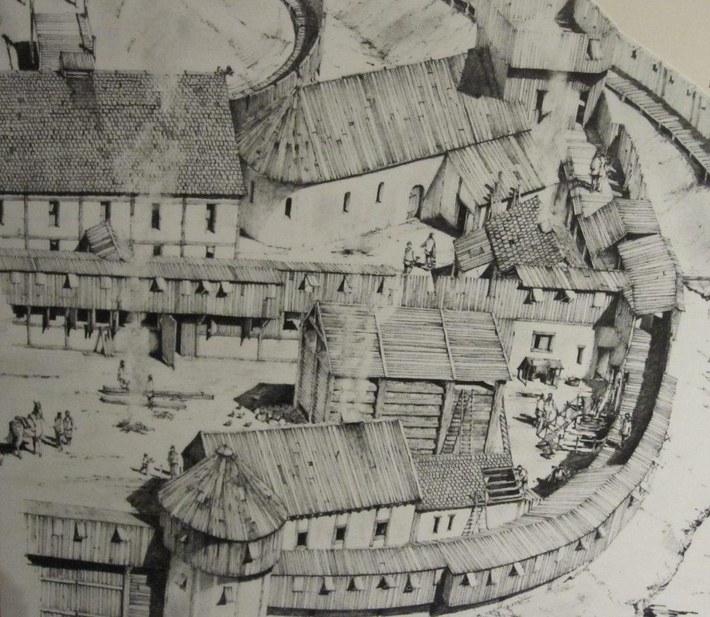 Shrewsbury fortifications, post 1066.