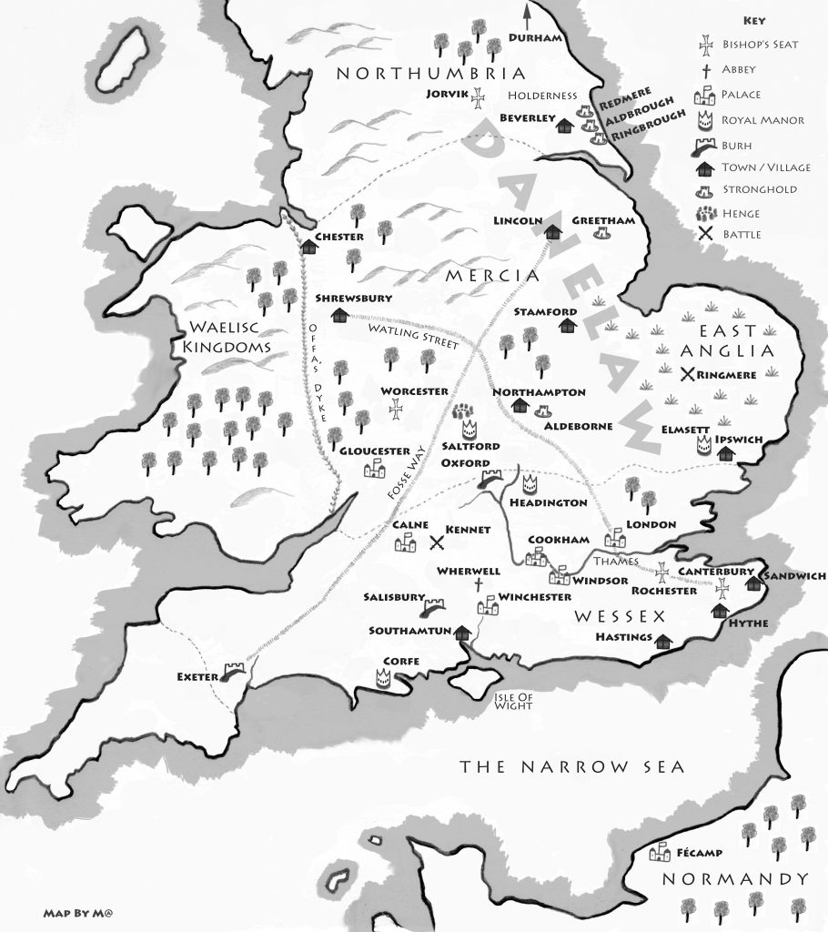 Map from THE PRICE OF BLOOD by Patricia Bracewell