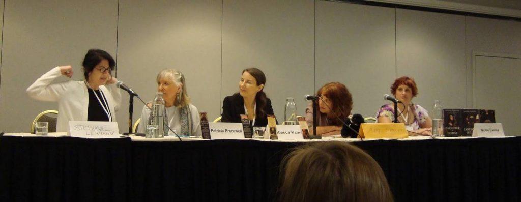 Putting the Her in History: Stephanie Lehmann, Bracewell, Rebecca Kanner, Mary Sharratt, Nicole Evelina. Photo Credit: Jessica Knauss